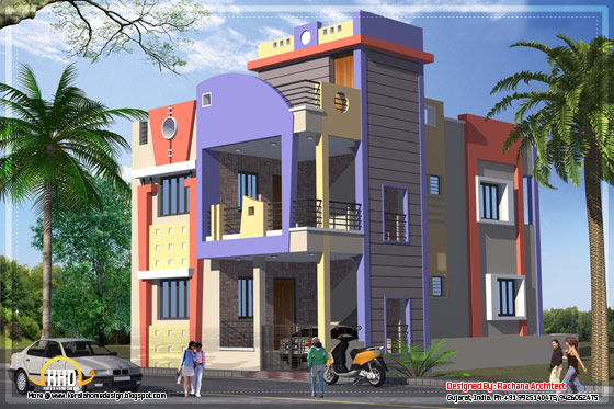 India house plan side view - 1582 Sq.Ft. - April 2012