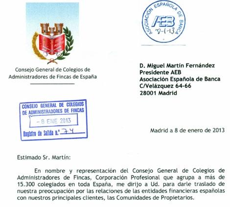 Ugt banco santander catalunya enero 2013 - Colegio de administradores de fincas barcelona ...