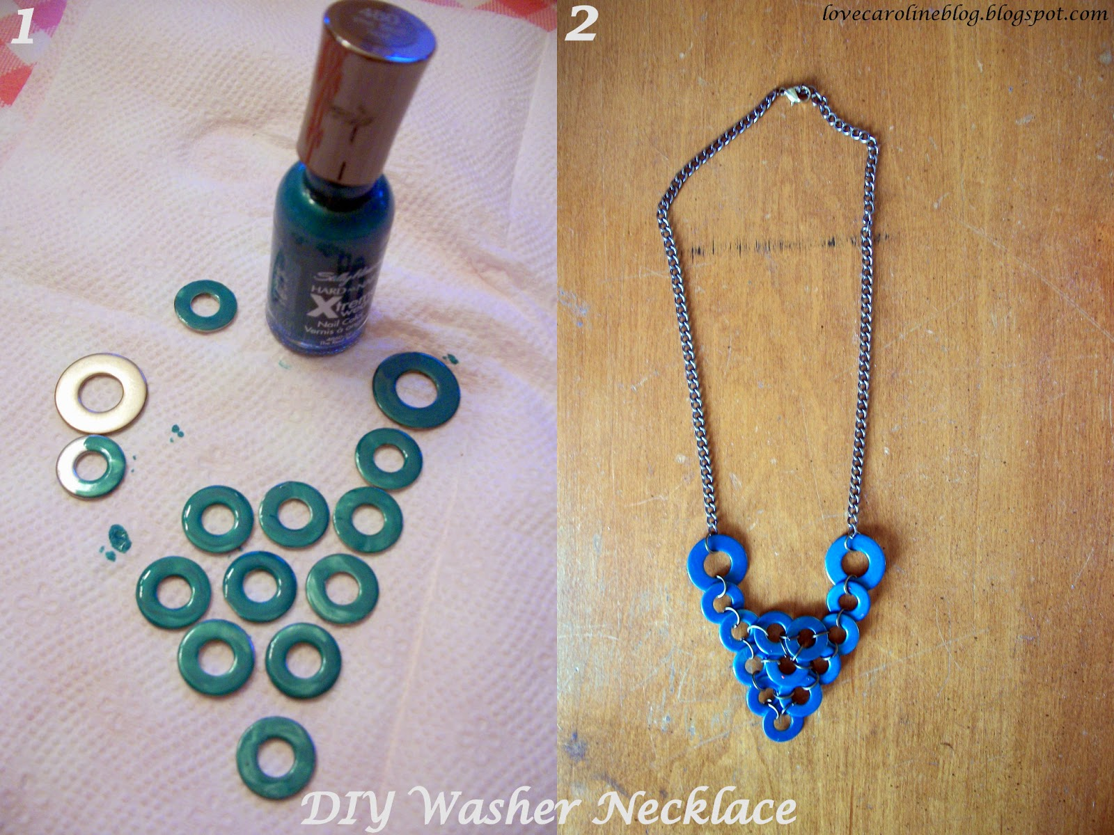 my bloggable neon day washer img diy pink ribbon necklace