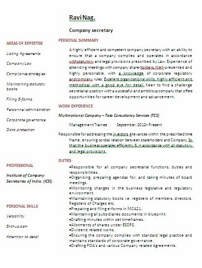 Company secretary with bcom degree experience resume format download company secretary with bcom degree experience resume format download link jobnotification malvernweather Gallery