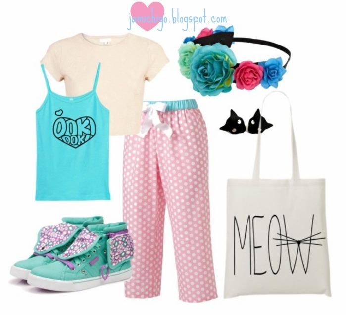 Kawaii pajama fashion Japanese style