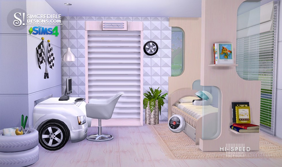 My Sims 4 Blog: Hi-Speed Kids Bedroom Set by Simcredible ...