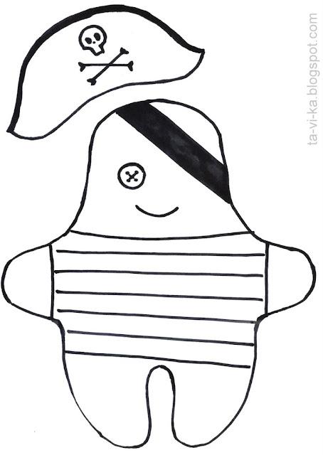 кукла пират - выкройка