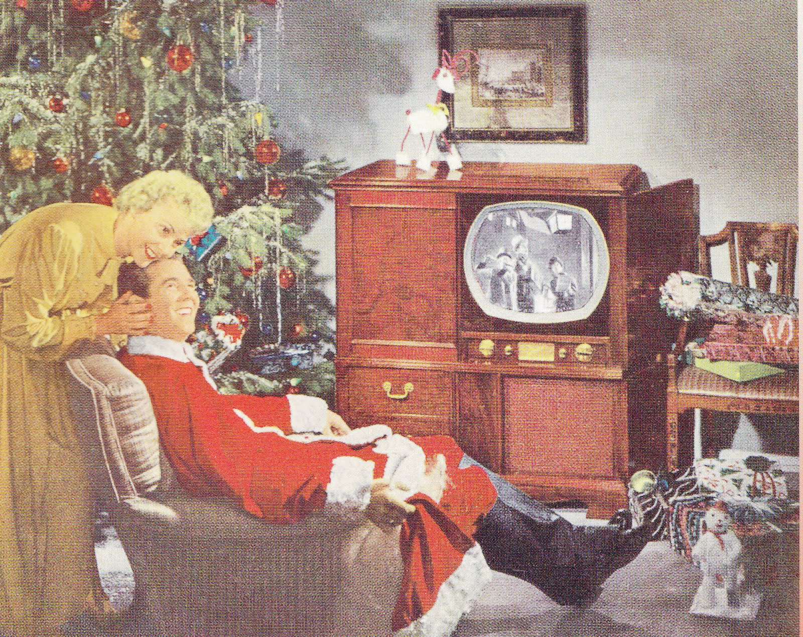 American Christmas: 1950's Christmas illustrations