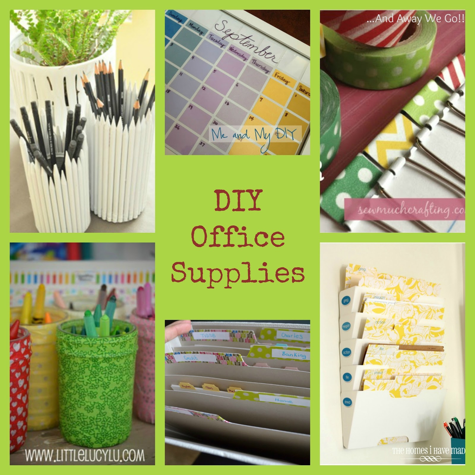 And away we go office supply diy for Diy office accessories