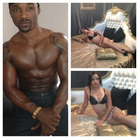 Photos from Iyanya & Wizkid's music video behind the scene shoot