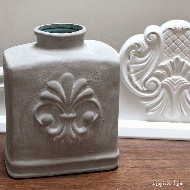 painting glass with Annie Sloan Chalk Paint