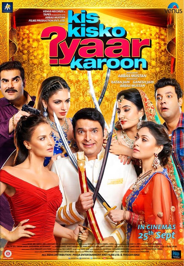 full cast and crew of bollywood movie Any Kis Kisko Pyaar Karu! wiki, story, poster, trailer ft Kapil Sharma, Elli Avram and Arbaaz Khan