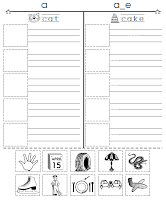 Cut, Paste & Spell Picture Sort Worksheets-Book 4