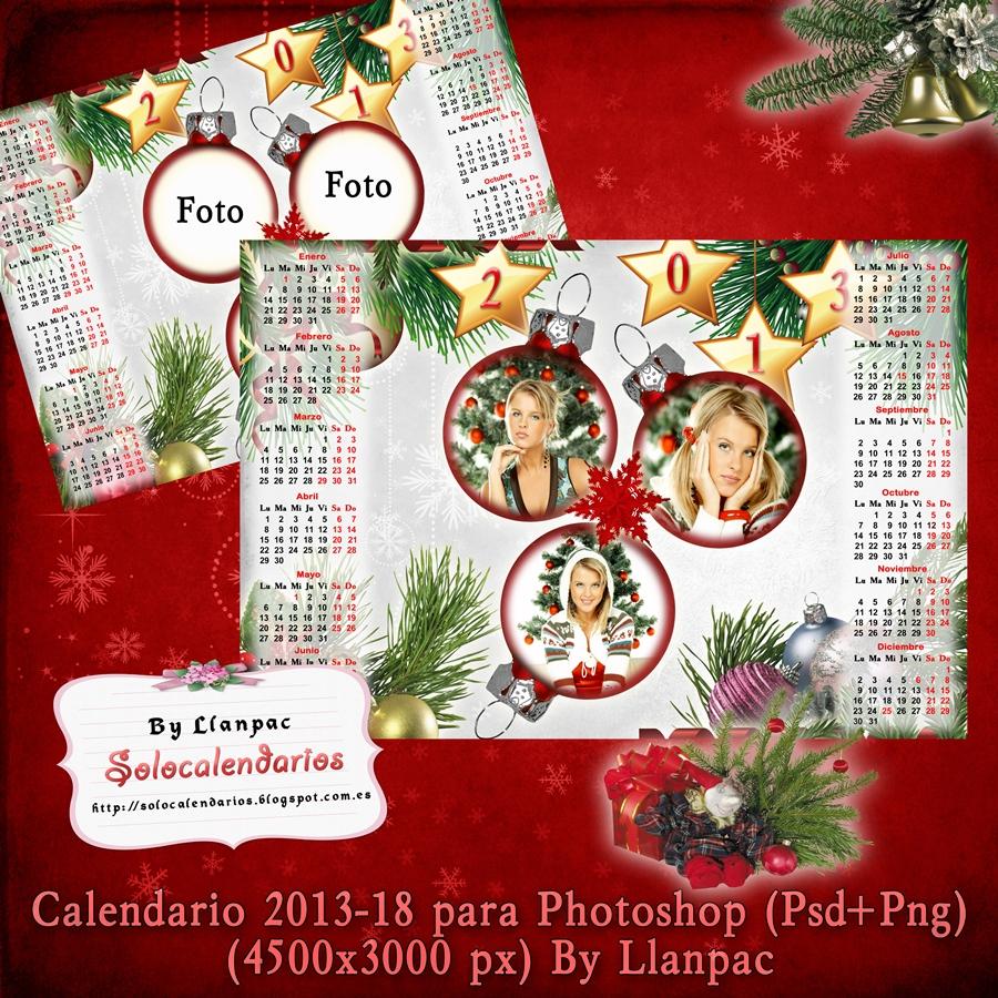 Calendario Del 2013 De Navidad Para Fotomontajes  Psd Png