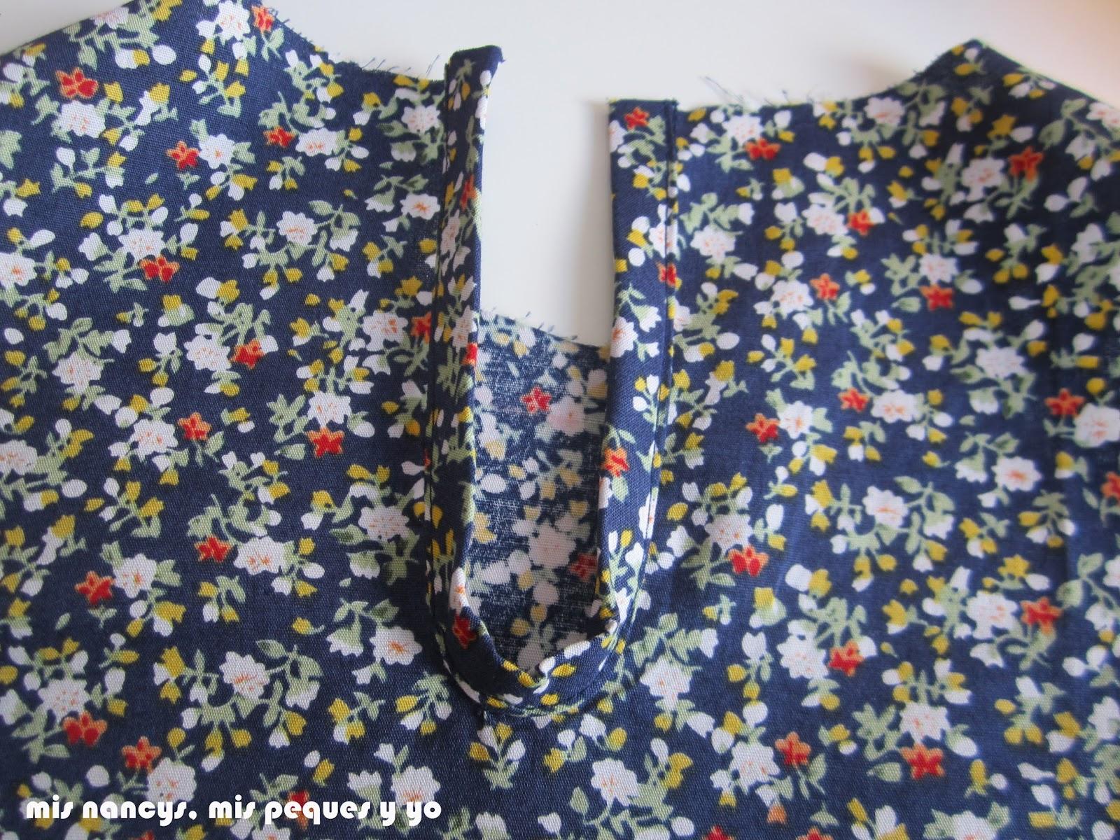 mis nancys, mis peques y yo, tutorial blusa sin mangas niña (patrón gratis), bies abertura detalle