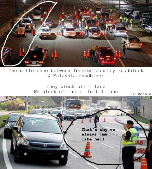polis trafik malaysia punca jalan raya sesak