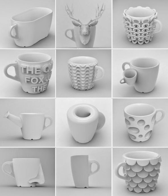 cups made from 3 printing