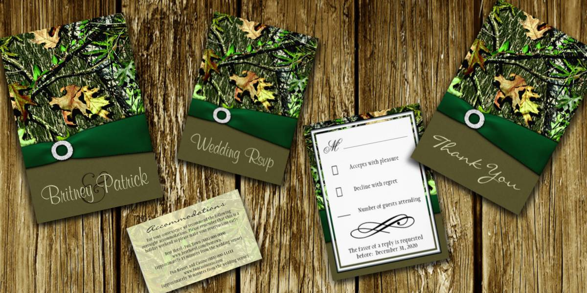 Wedding Invitations Camo was luxury invitations example