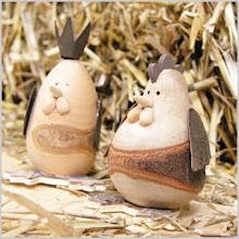 Holz-Hühner
