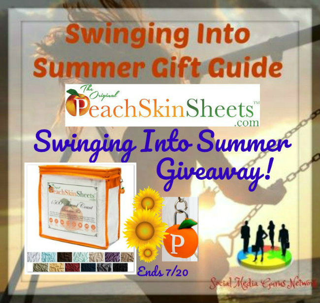 Peach Skin Sheets Swinging Into Summer