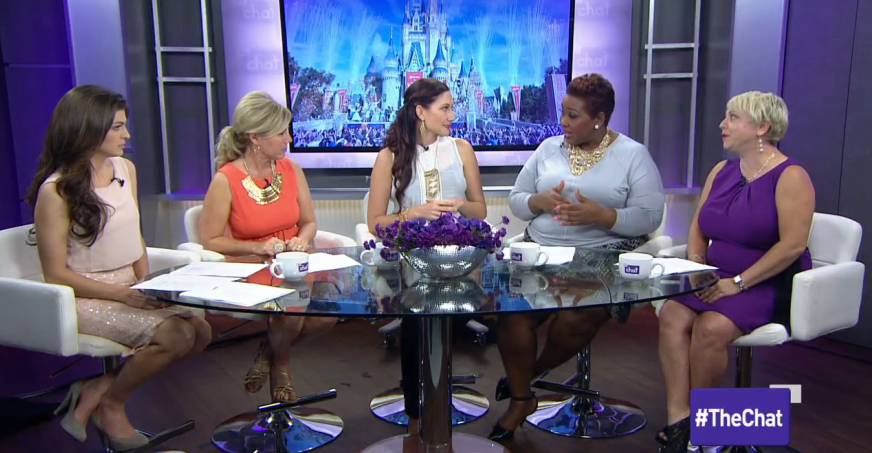 Amy West on The Chat talking about Surviving Disney
