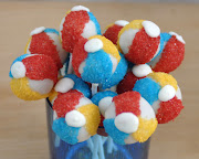 I'm making these beach ball cake pops for a poolside birthday party for a .