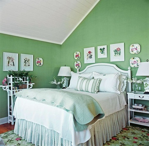 Gambar dekorasi kamar tidur utama untuk musim semi