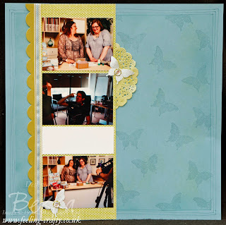 Making of a Video Scrapbook Page featuring the Sunshine and Sprinkles Papers from Stampin' Up! by Stampin' Up! Demonstrator Bekka Prideaux