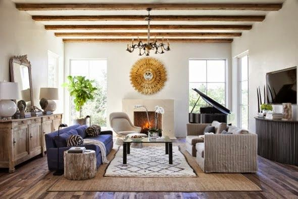 eclectic mid century modern living room