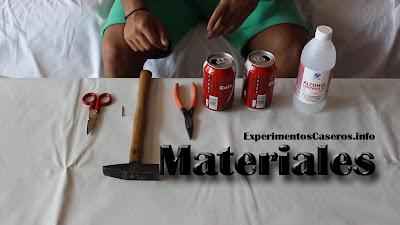 Cómo hacer un hornillo casero, hornillo low-cost, experimentos caseros