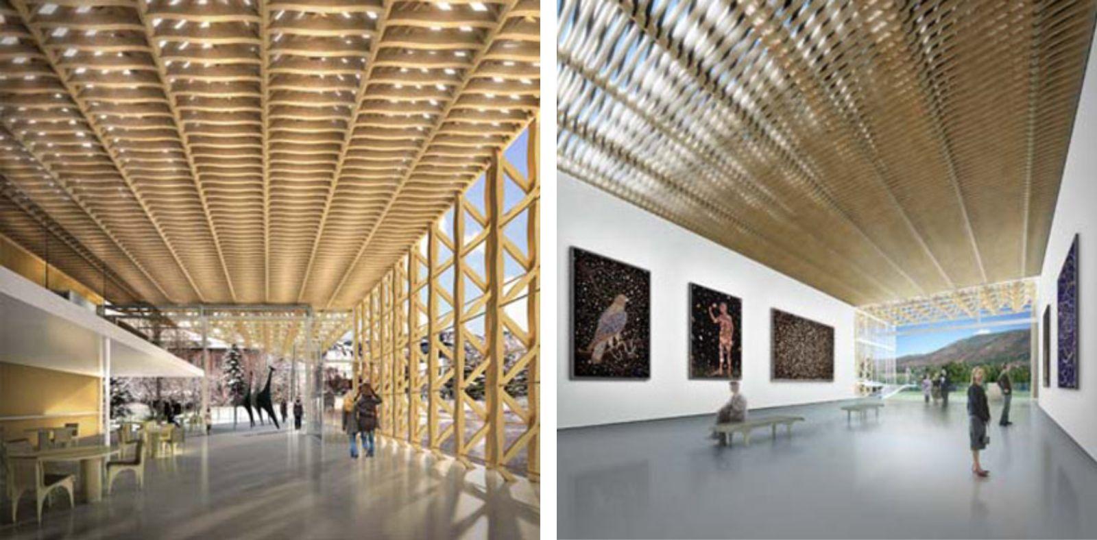 06-Aspen-Art-Museum por Shigeru Ban---junto abierto-verano