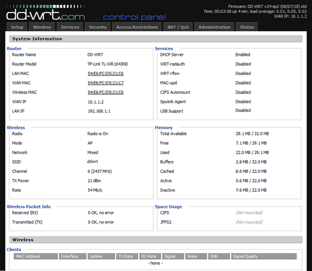 how to upgrde firmware from ddwrt to original dlink601-a1