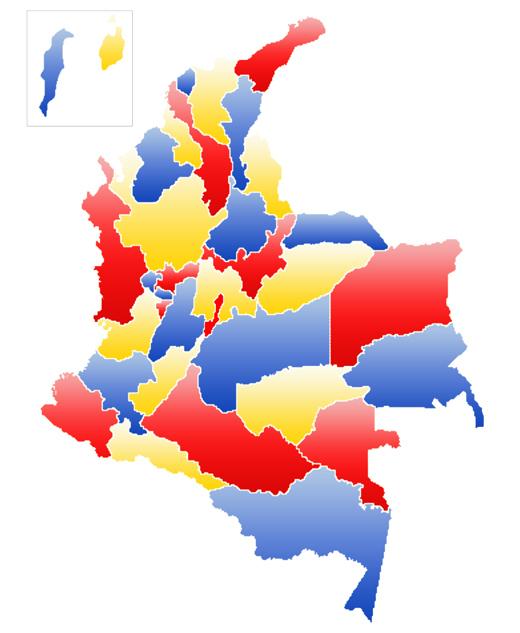 mapa de colombia politico