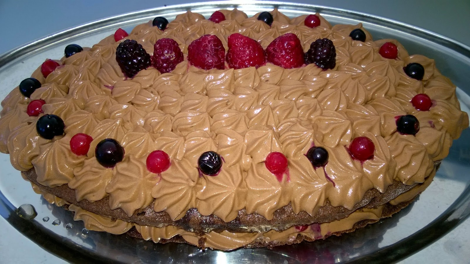 Gâteau choco fruits rouges