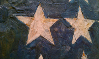 Jasper Johns Flag Close Up 1954 Mike Slobot's Robot Art Blog