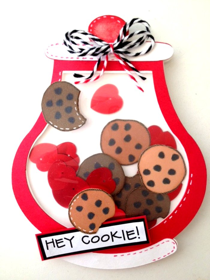 Craft Creations Cookie Jar Shaped Shaker Card
