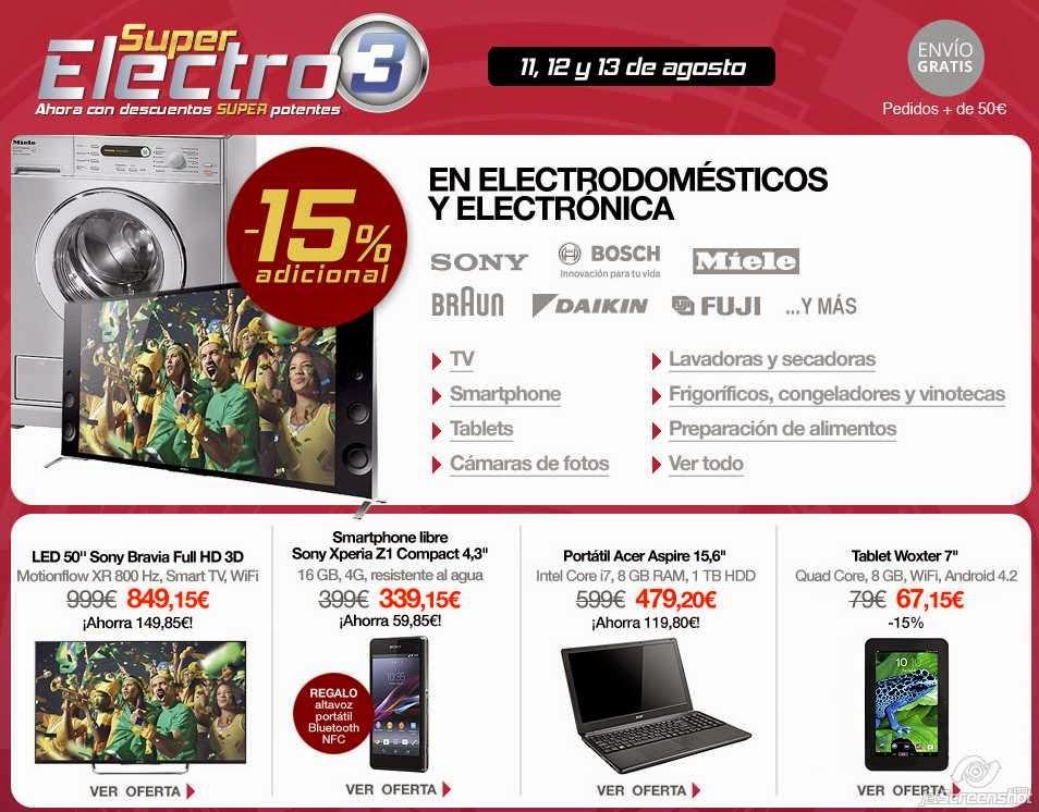super electro 3 el corte ingles agosto 2014