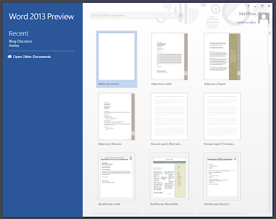 MS Word 2013: New Features