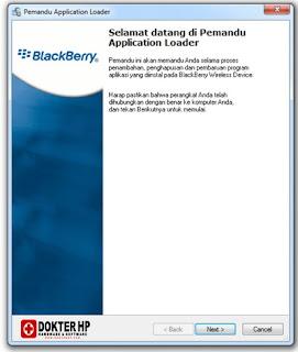 Lokasi Loader.exe Untuk Instal OS Blackberry