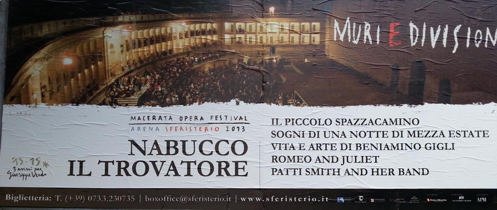 il cartellone del Macerata Opera Festival Arena Sferisterio 2013