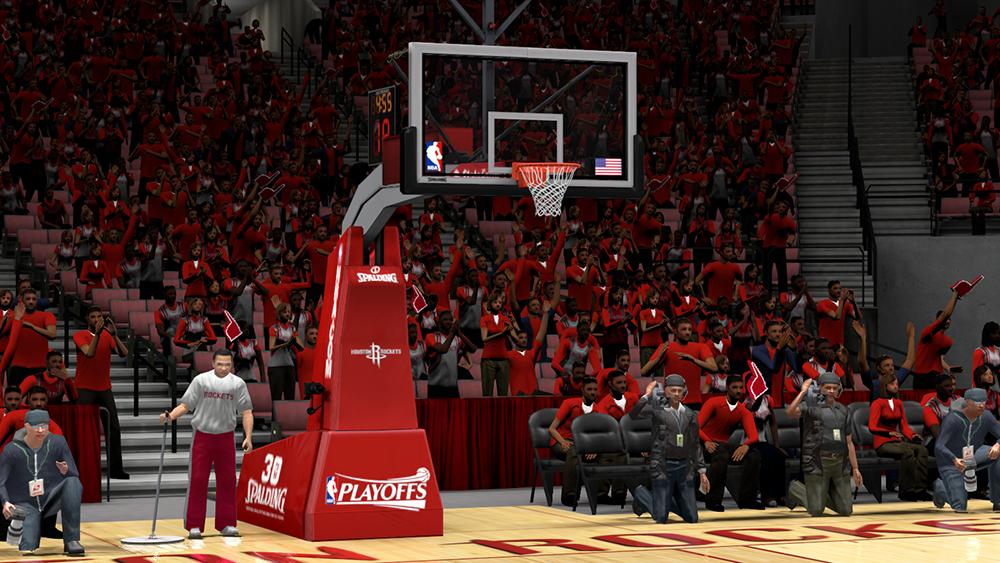 NBA 2K14 Rockets Playoffs Arena/Backboard