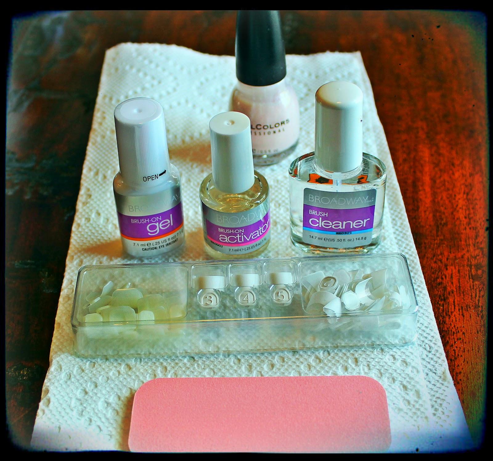 real life brush on gel nail kit instructions