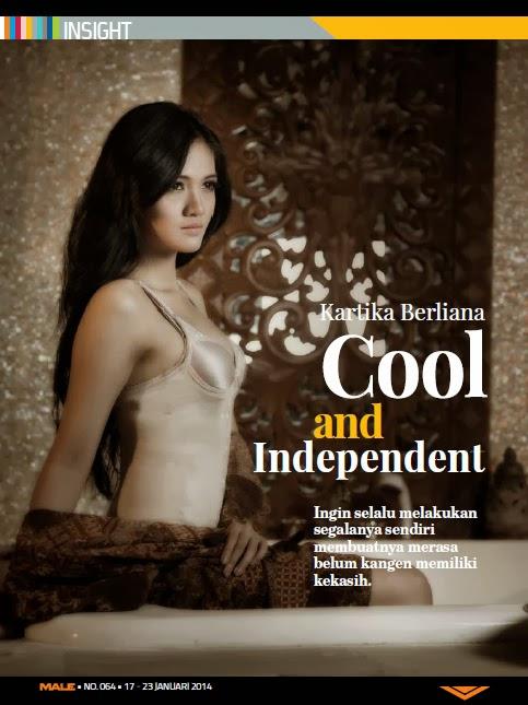 galeri foto kartika berliana di majalah male januari 2014