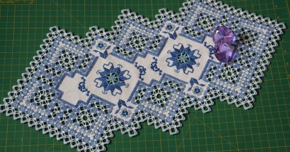 Вышивка хардангер салфетки 18