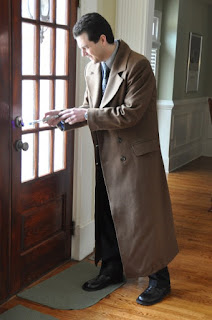 AbbyShot Customer in his Tenth Doctor's Coat from Doctor Who