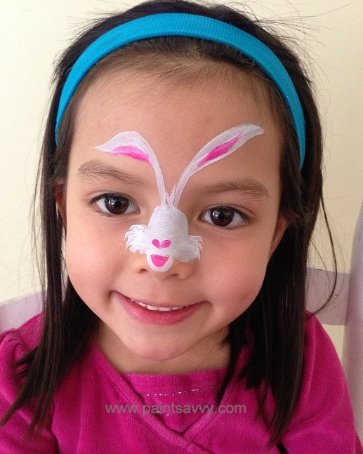 Bunny Face Paint. Easter bunny face painting tutorial  Paint Savvy parties events