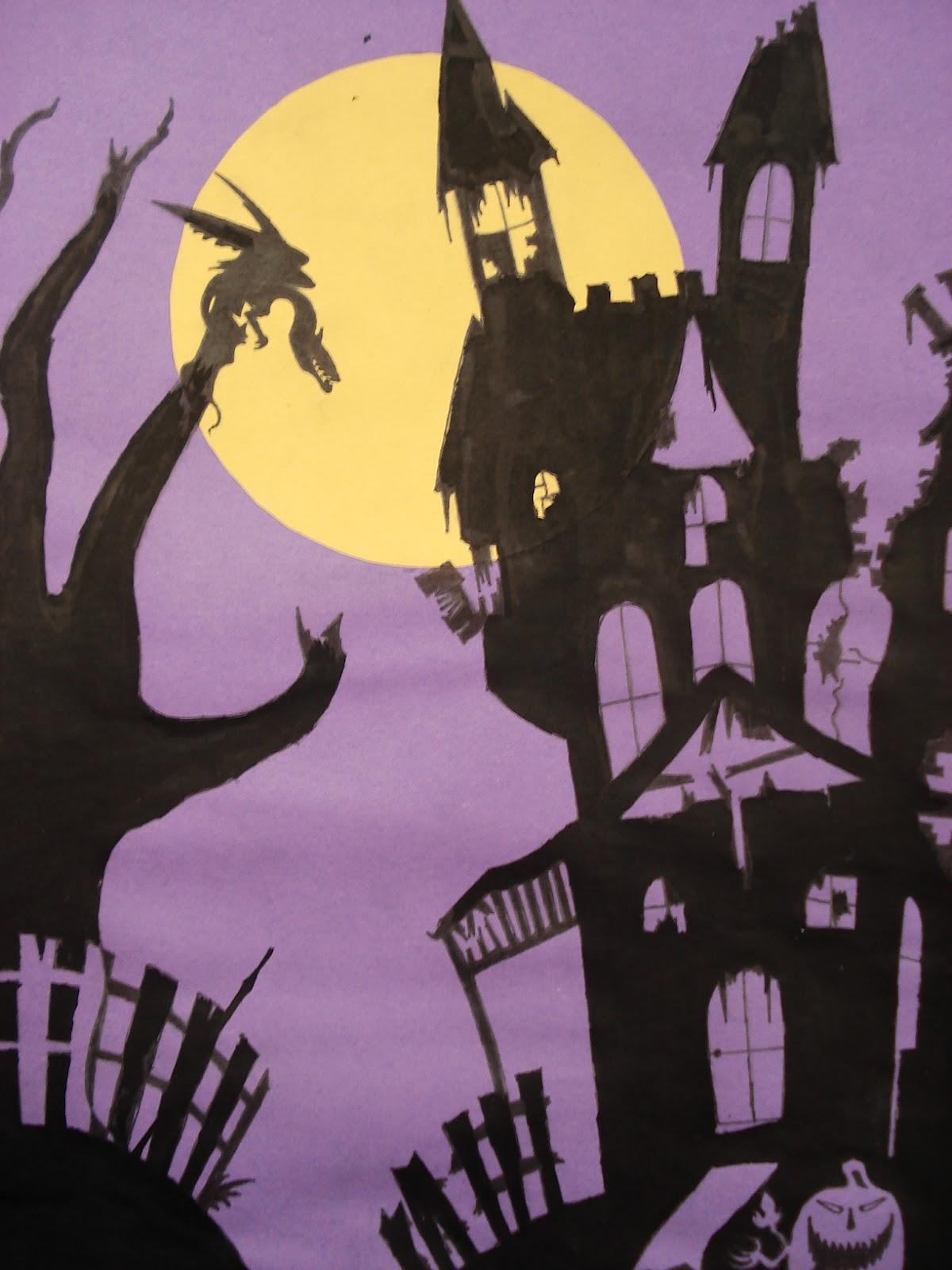 Halloween Art Lessons For Grade 1 on Perspective Art Lesson Worksheet