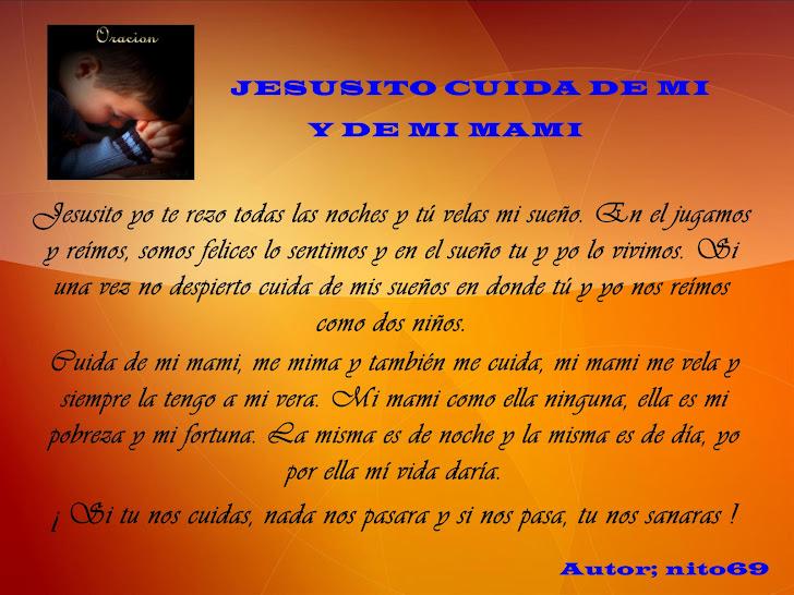 JESUSITO CUIDA DE MI Y DE MI MAMI
