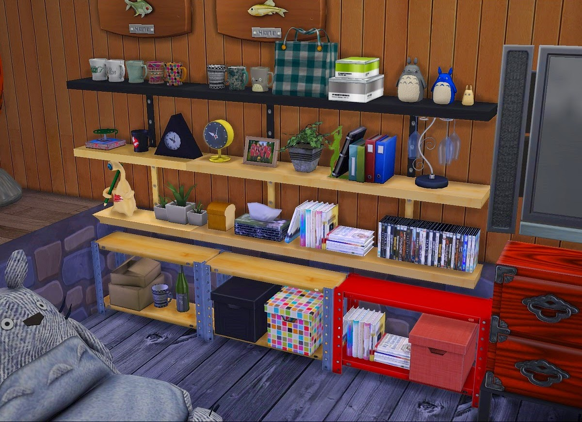 Very Impressive portraiture of My Sims 4 Blog: Shelves and Clutter by Kimu412 with #BC110F color and 1200x870 pixels