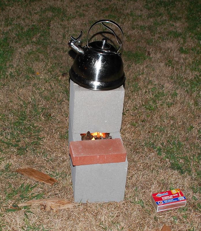 Plain old kristi how to make a 3 rocket stove for Make a rocket stove