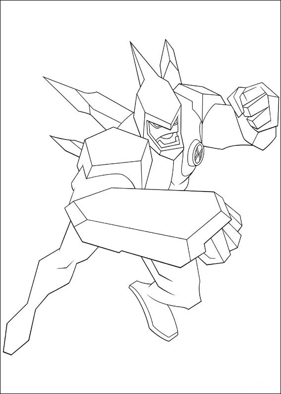 Free Ben 10 Coloring Pages Printable title=