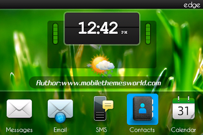 Free Download Tema Keren Blackberry Big Clock Terbaru 2012