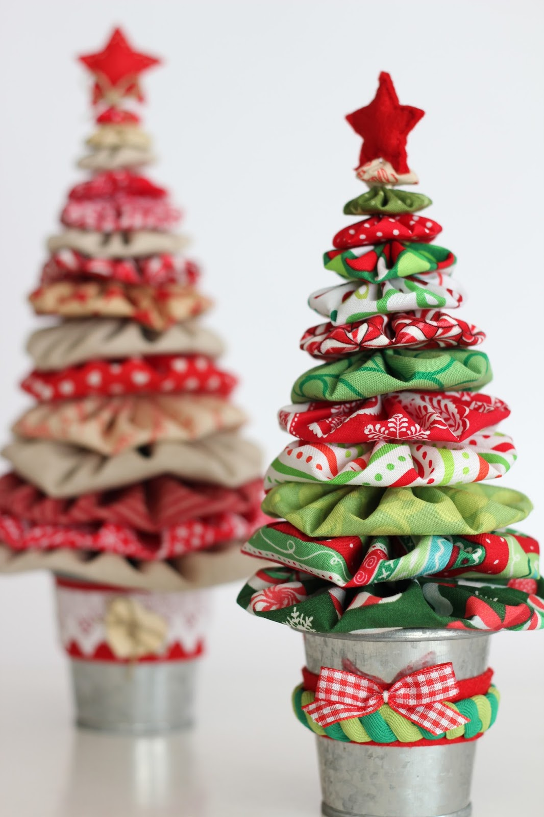 arboles de navidad con yo yos - Arbol De Navidad De Tela