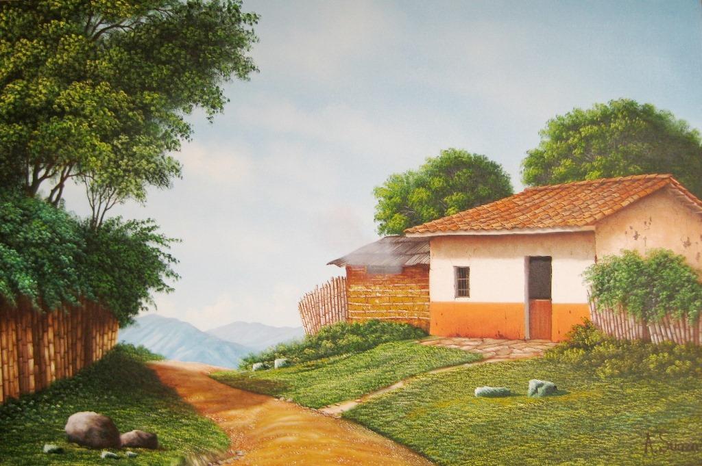 Cuadros modernos pinturas y dibujos cuadros de paisajes 2013 - Cuadros de casas de campo ...